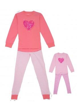 Dívčí pyžamo srdce 134-164